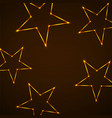 abstract background with neon stars for design vector image