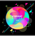 abstract colorful geometric pattern design on vector image vector image