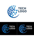 abstract technology logo vector image vector image