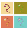 assembly flat icons kids toy snake vector image vector image