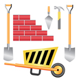 basic construction tools set vector image vector image