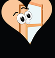 big eye in the heart on a black background vector image vector image