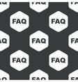 Black hexagon FAQ pattern vector image vector image