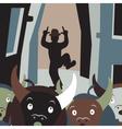 Bull running vector image vector image