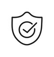 check mark quality shield icon linear design vector image
