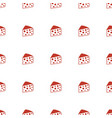 cheese icon pattern seamless white background vector image vector image