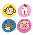 chinese horoscope animal set vector image
