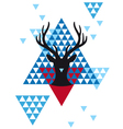 Christmas deer with geometric pattern vector image vector image