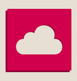 cloud sign grayscale version vector image vector image