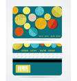 Collection of gift cards with circles background vector image
