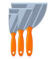colorful cartoon construction spatula set vector image vector image