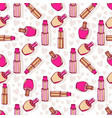 cosmetic products pattern lipsticks and nail vector image