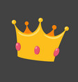 crown isolated on black background vector image