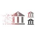 decomposed pixel halftone bank building icon vector image vector image
