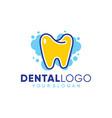 dental clean logo template design vector image