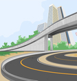 Elevated road scene vector image vector image