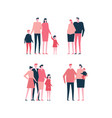 families - flat design style set of isolated vector image vector image
