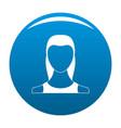 female avatar icon blue vector image vector image