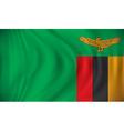 Flag of Zambia vector image vector image