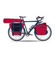 flat of touring bike with vector image vector image