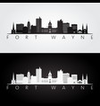 fort wayne usa skyline and landmarks silhouette vector image vector image