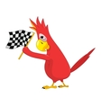 Funny Parrot Racing vector image vector image