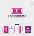 gate movie or cinema simple logo template icon vector image vector image