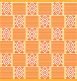 geometric african print cloth kente seamless vector image vector image
