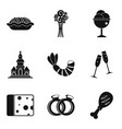 glad icons set simple style vector image vector image