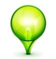 green light bublb energy saving concept vector image