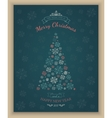 Greeting text and sketch snowflakes vector image