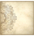 grunge background with lace ornament vector image vector image