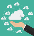 Hand with cloud computing technology concept vector image