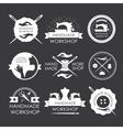 Handmade workshop logo vintage se vector image