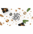 happy new 2019 year greeting card banner vector image vector image