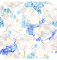 hidrangea tulip blue pattern vector image vector image