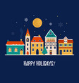 holiday christmas with colorful vector image