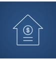 House with dollar symbol line icon vector image vector image