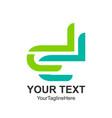initial letter dd logo design template element vector image