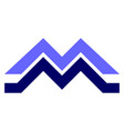 letter m abstract mountains logo icon vector image vector image