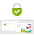 lock logotype as trust protected company logo or vector image