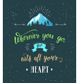 mountain and forest hand drawn travel vector image vector image