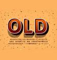 old vintage display font design alphabet letters vector image vector image