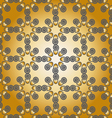 Pattern grey gold vector image vector image