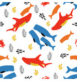 pattern with fish and coral vector image