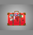 red bag isolated on transparent background vector image vector image