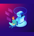 robot software concept isometric vector image vector image