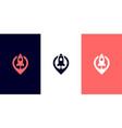 rocket pin logo design vector image vector image