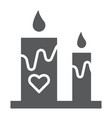 romantic candles glyph icon romance and love vector image