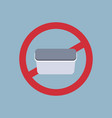 say no to plastic food container poster pollution vector image